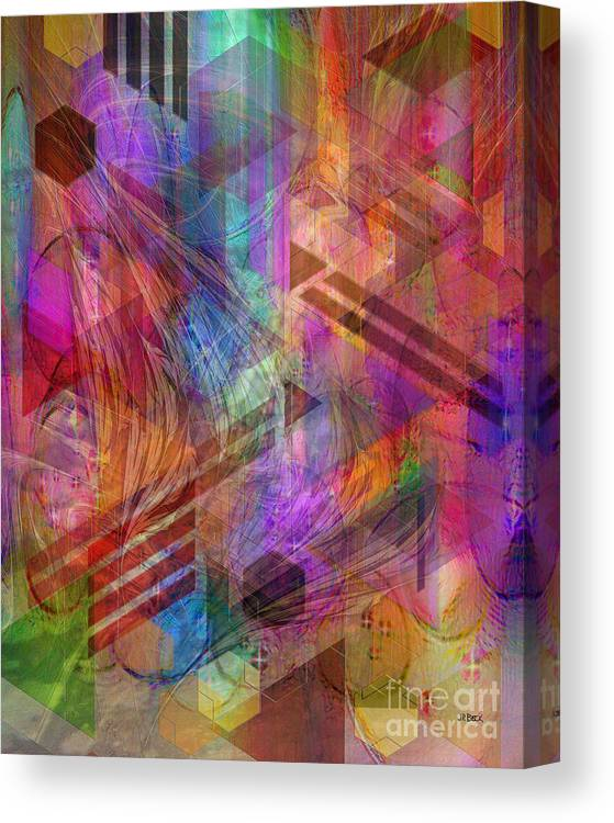 Magnetic Abstraction Canvas Print featuring the digital art Magnetic Abstraction by John Beck