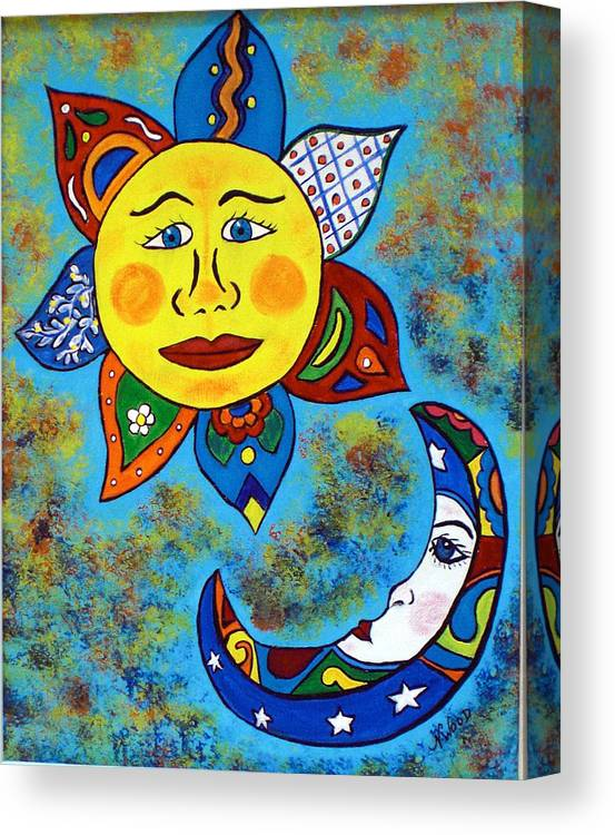 Mexican Sun And Moon Canvas Print Canvas Art By Nancy Sisco