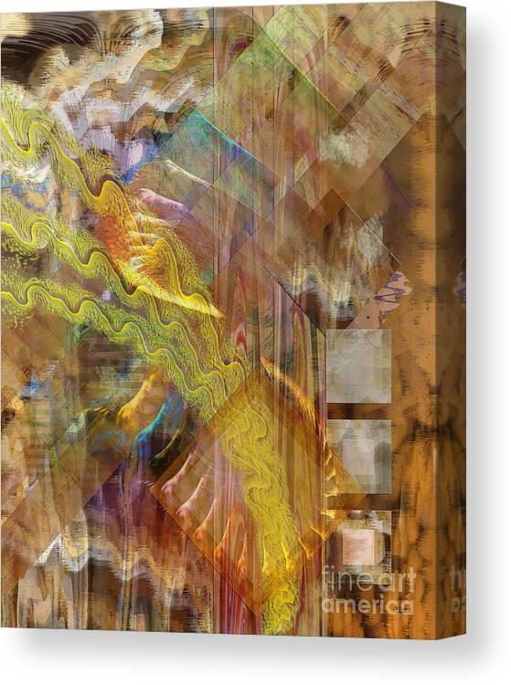 Morning Dance Canvas Print featuring the digital art Morning Dance by John Beck