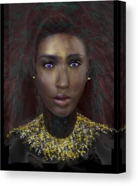 Victor Shelley Canvas Print featuring the digital art Nubia by Victor Shelley