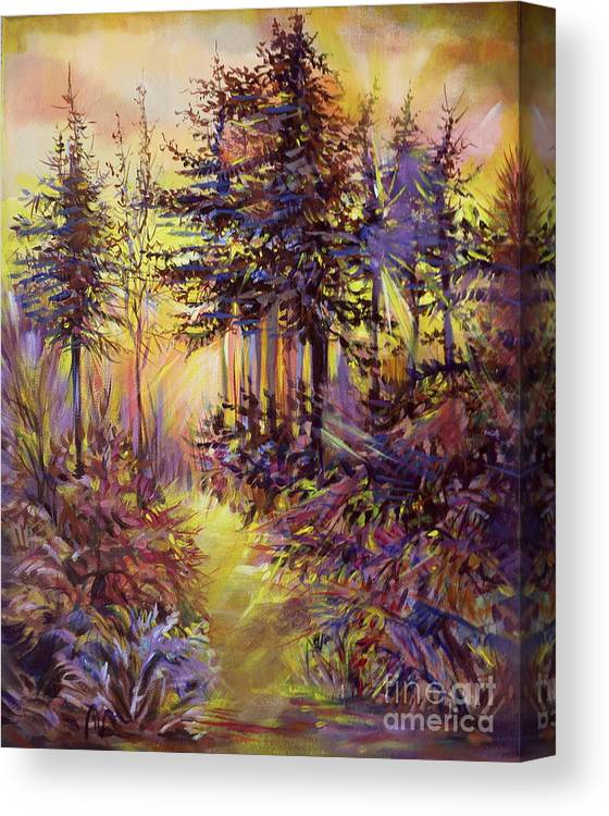 For Sale Canvas Print featuring the painting Path Of Illusions by Anna Duyunova