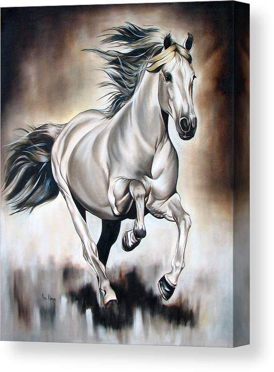 Horse Canvas Print featuring the painting Power by Ilse Kleyn