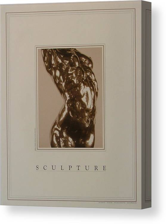 Female Nude Canvas Print featuring the painting Print Of Sculpture By The Artist by Gary Kaemmer