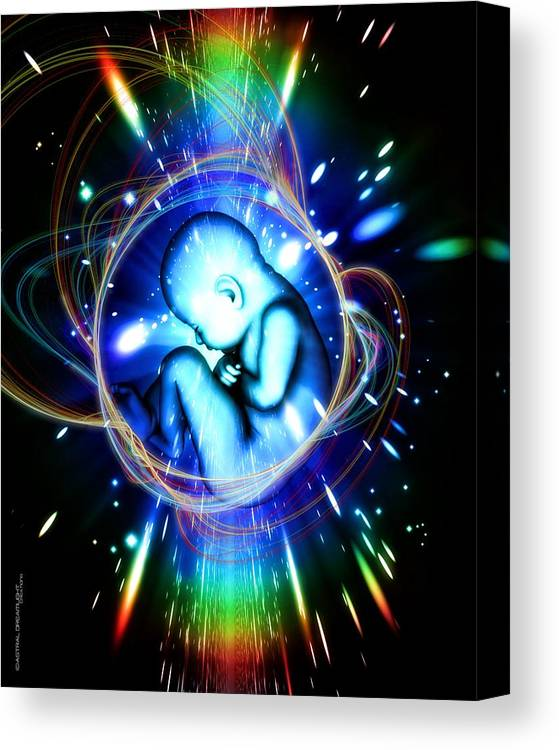 Newborn Canvas Print featuring the painting Rebirth by Dreamlight Creations
