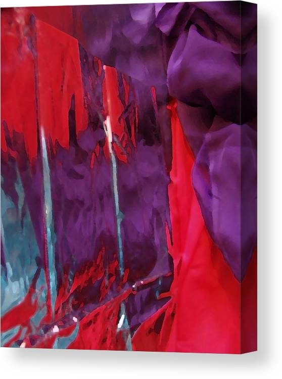 Abstract Canvas Print featuring the digital art Regal by Florene Welebny