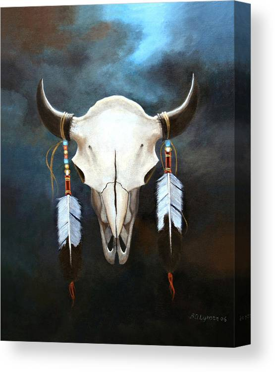 Symbolic Canvas Print featuring the painting Relic Of The Plains by Brooke Lyman