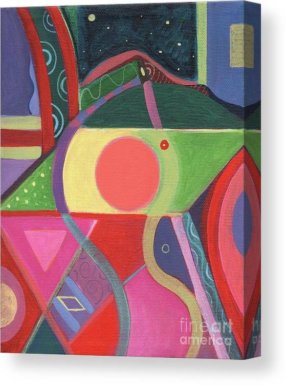 Abstract Canvas Print featuring the painting Rising Above by Helena Tiainen