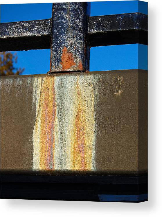 Bridge Canvas Print featuring the photograph Rust by Heather S Huston