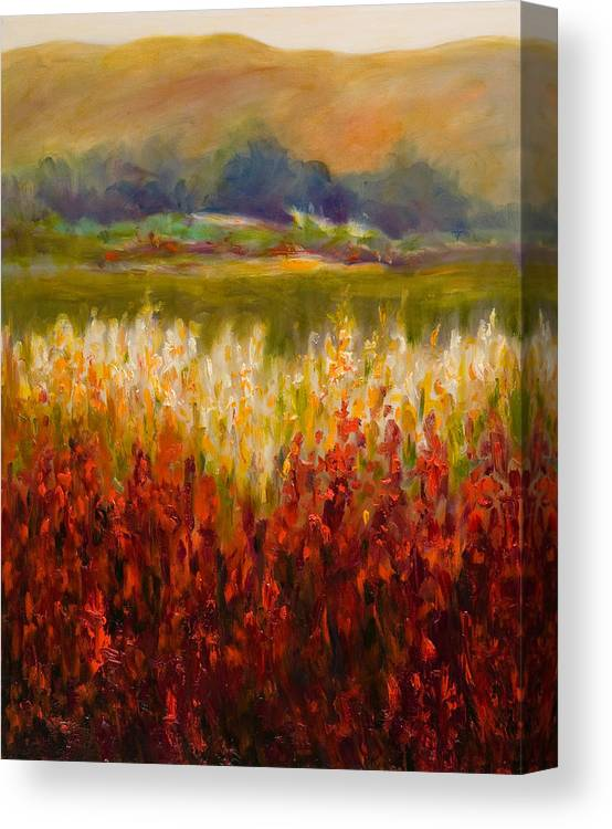 Landscape Canvas Print featuring the painting Santa Rosa Valley by Shannon Grissom