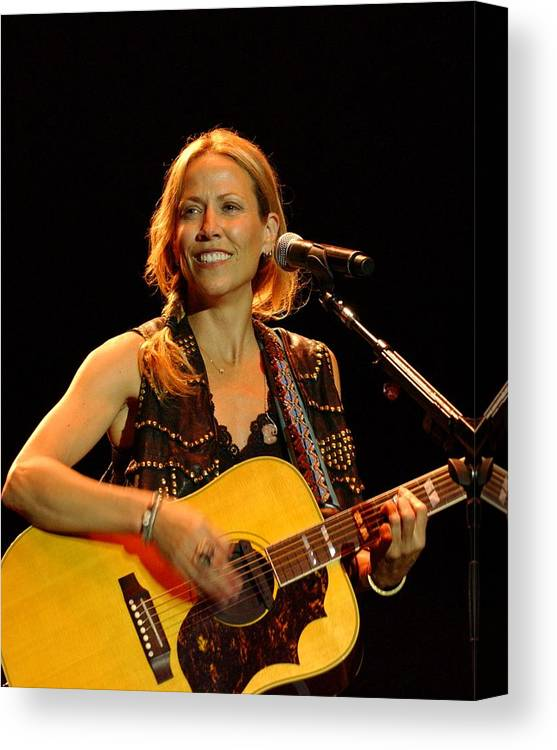 Sheryl Crow Canvas Print featuring the photograph Sheryl Crow by Bob Guthridge