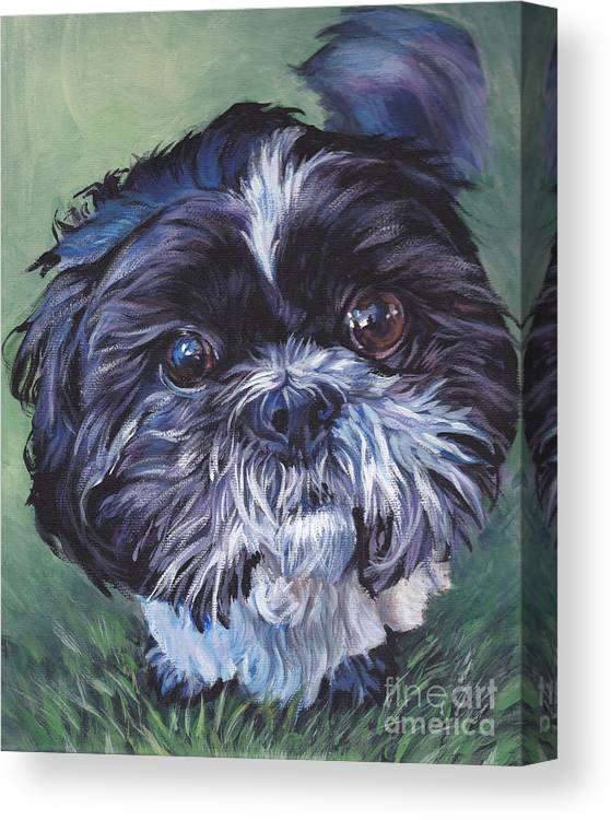 Shih Tzu Canvas Print featuring the painting Shih Tzu by Lee Ann Shepard