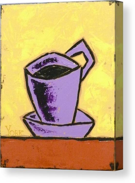 Coffee Canvas Print featuring the painting Solo Coffee IIi by Ron York