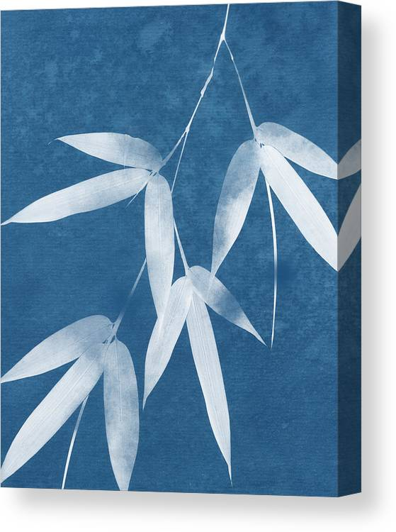 Bamboo Canvas Print featuring the mixed media Spa Bamboo 1-art By Linda Woods by Linda Woods
