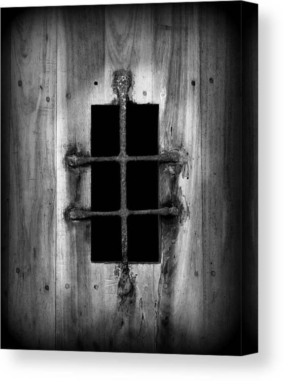 Door Canvas Print featuring the photograph Spanish Fort Window by Perry Webster