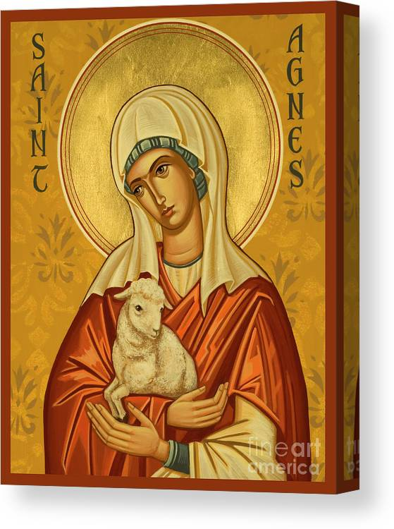 St. Agnes Canvas Print featuring the painting St. Agnes - Jcagn by Joan Cole