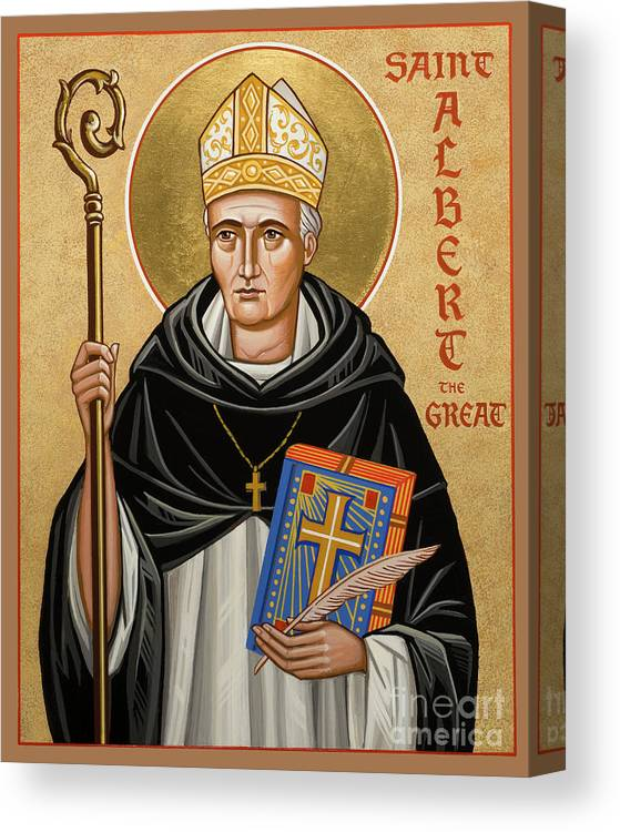 St. Albert The Great Canvas Print featuring the painting St. Albert The Great - Jcatg by Joan Cole