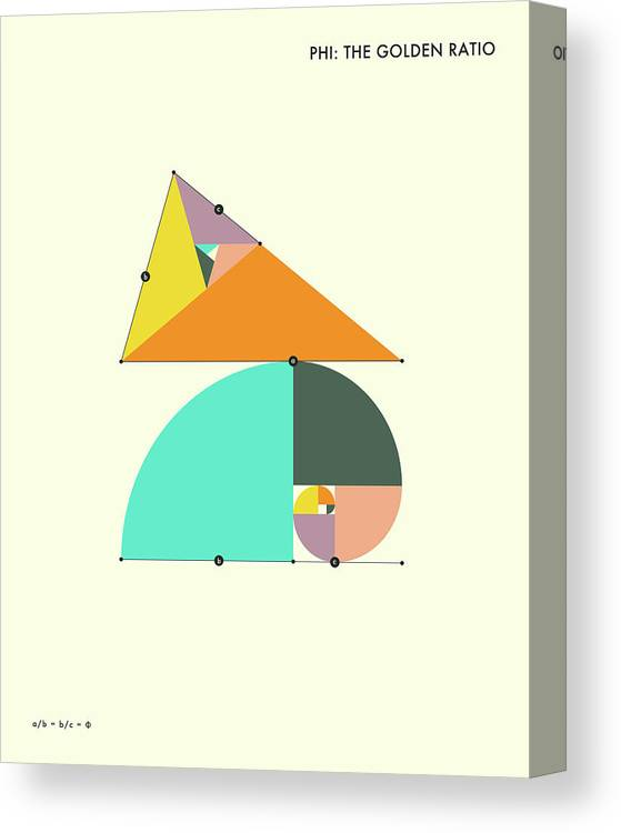 Geometry Canvas Print featuring the digital art Phi - The Golden Ratio by Jazzberry Blue