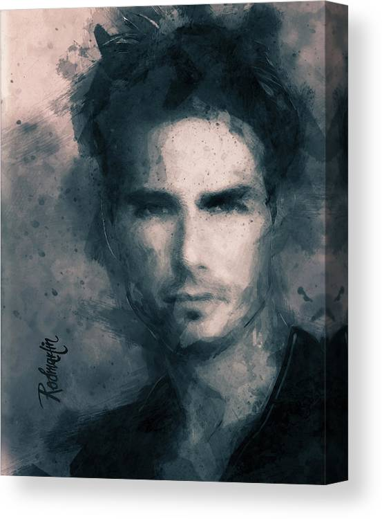Tom Cruise Canvas Print featuring the painting Tom Cruise by Gustav Rodmartin