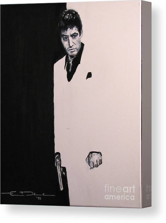Al Pacino Canvas Print featuring the painting Tony Montana - Scarface by Eric Dee