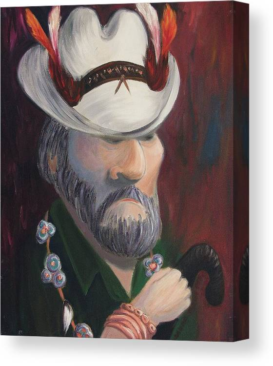 Man Canvas Print featuring the painting True Believer by Suzanne Marie Leclair