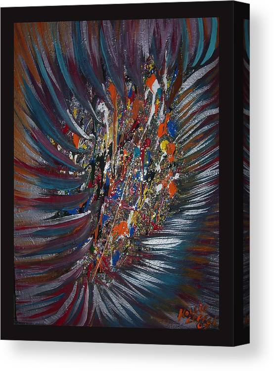 Abstract Canvas Print featuring the painting Untitled Abstract by Hollie Leffel