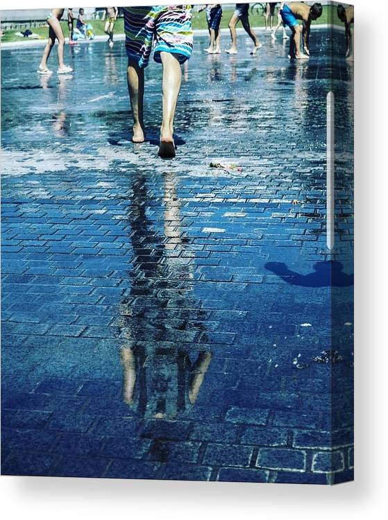 Man Canvas Print featuring the photograph Walking On The Water by Nerea Berdonces Albareda