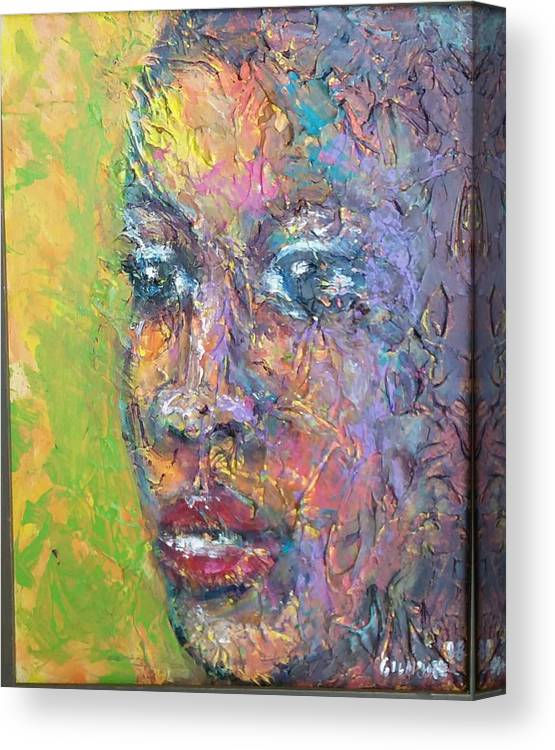 Canvas Print featuring the painting Contemplation by Jan Gilmore