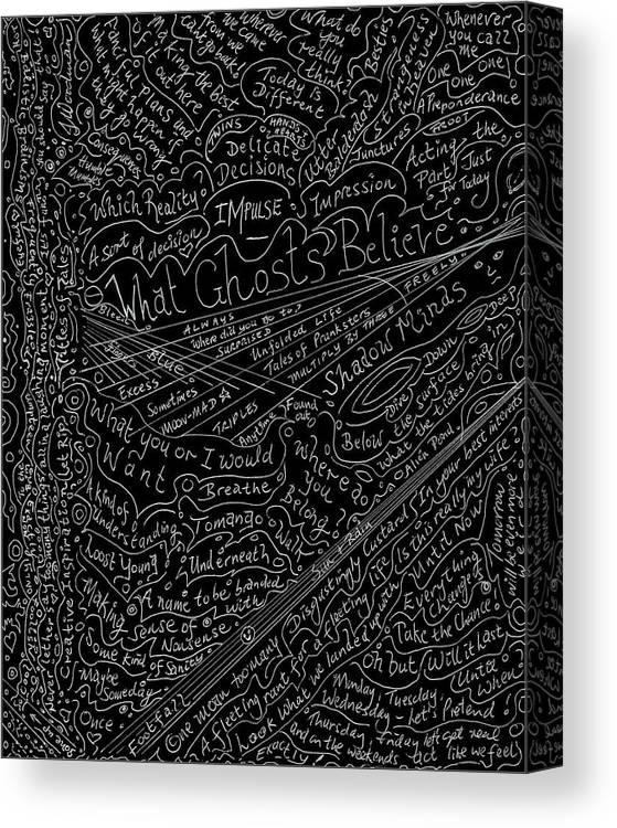 Poems Canvas Print featuring the drawing Fun Titles For Stories Or Lines For Songs by Julia Woodman