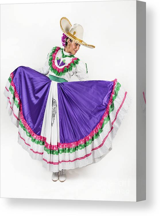Dancing Canvas Print featuring the photograph This Charming Dancer Is Wearing A by Leon Rafael