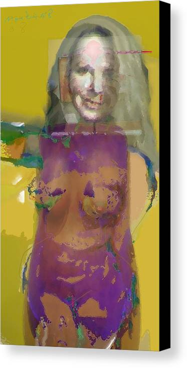 Mask Canvas Print featuring the painting Melanie II by Noredin Morgan