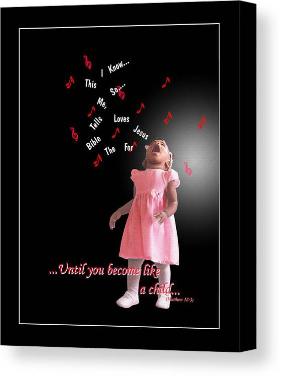Child Canvas Print featuring the photograph Childlike by Richard Gordon
