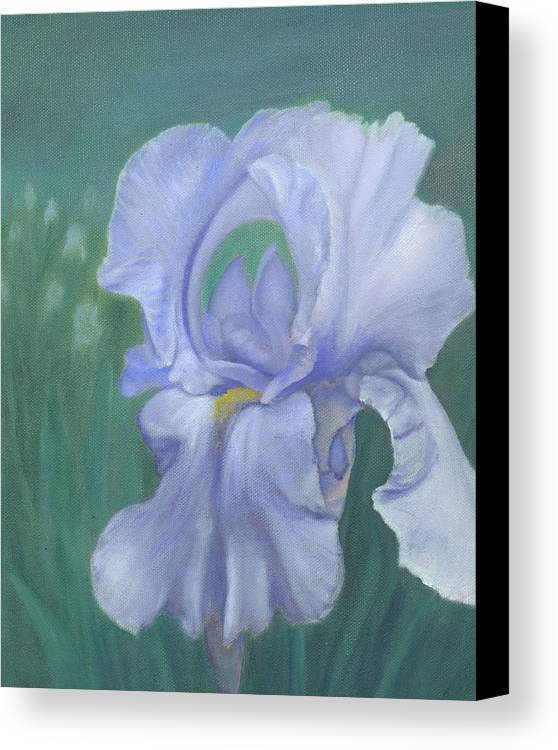 Flowers Canvas Print featuring the painting Blue Iris by Laurel Ellis