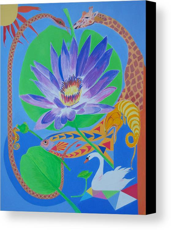 Acrylic Canvas Print featuring the painting Love In The Garden Of Eden by Seema Gill