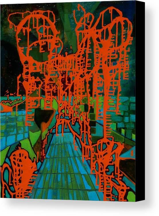 Lanscape Canvas Print featuring the print Orange Palas by Meltem Quinlan