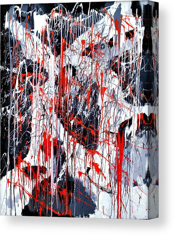 Depression Canvas Print featuring the painting Sad Days Indeed by Asbjorn Lonvig