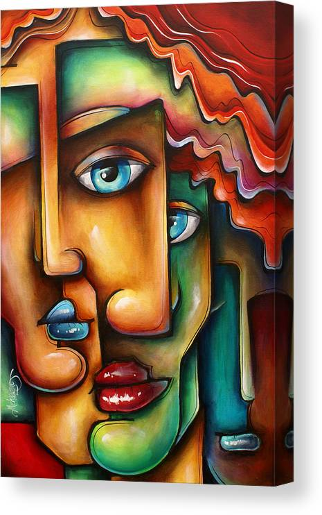 Urban Expressions Canvas Print featuring the painting ' Mixed Emotions ' by Michael Lang