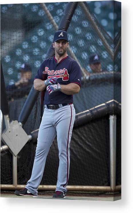San Francisco Canvas Print featuring the photograph Atlanta Braves v San Francisco Giants by Jason O. Watson