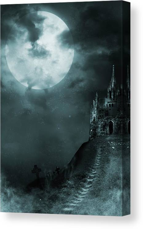 Gothic Style Canvas Print featuring the photograph Old Castle by Vladgans