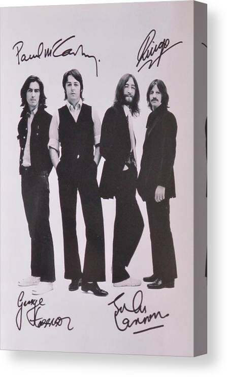 The Beatles Canvas Print featuring the photograph The Beatles by Donna Wilson