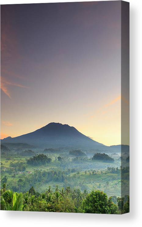 Scenics Canvas Print featuring the photograph Indonesia, Bali, Rice Fields And by Michele Falzone