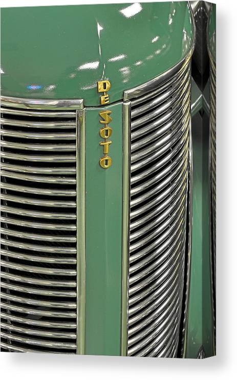 Pastel Canvas Print featuring the photograph 1937 Desoto Grill by Keith Gondron