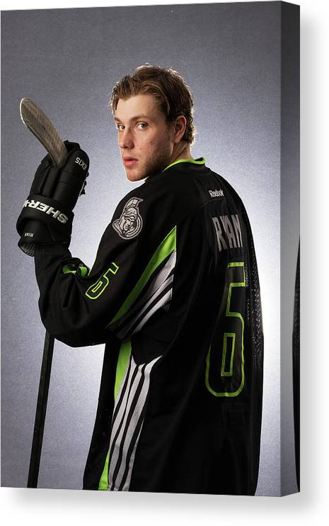People Canvas Print featuring the photograph 2015 Honda Nhl All-star Portraits by Gregory Shamus