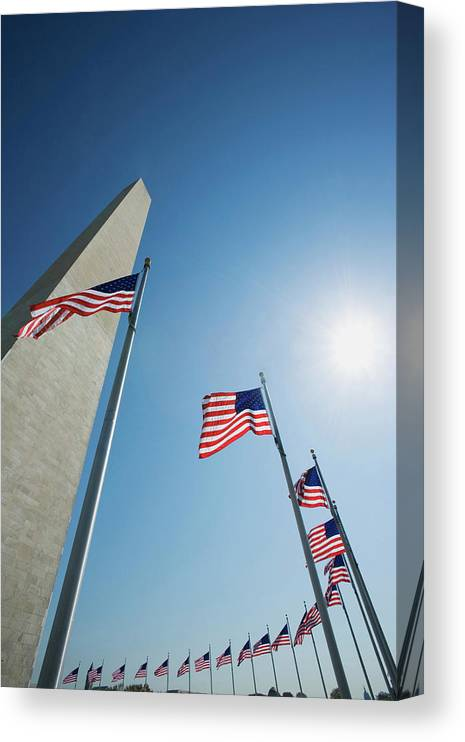 American Flag Canvas Print featuring the photograph Usa, Washington, D by Jaynes Gallery