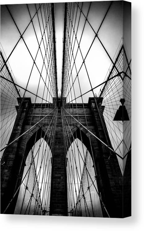 Brooklyn Bridge Arches Canvas Print featuring the photograph A Brooklyn Perspective by Az Jackson