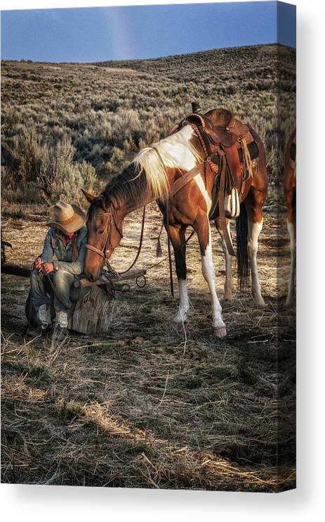 Sombrero Ranch Canvas Print featuring the photograph A Cowgirls Best Friend by Pamela Steege
