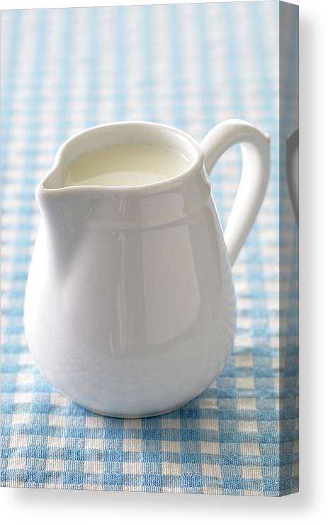 Single Object Canvas Print featuring the photograph A Jug Of Cream by Riou