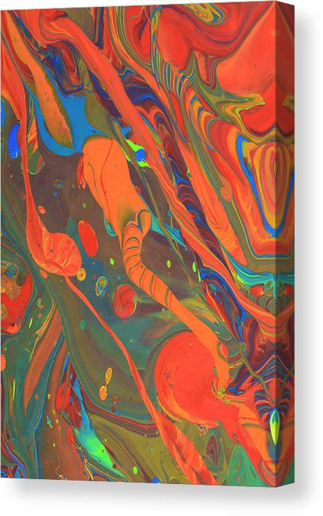 Full Frame Canvas Print featuring the photograph Abstract Paint Background by Don Farrall