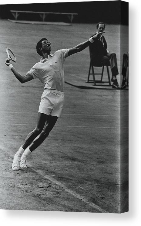 Sport Canvas Print featuring the photograph Arthur Ashe Playing Tennis by Jack Robinson