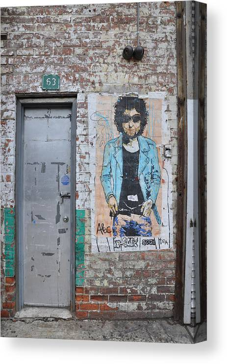 New York Canvas Print featuring the photograph Bob Dylan Graffiti by Todd Hartzo