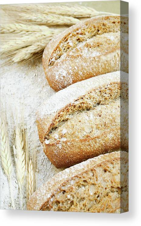 Breakfast Canvas Print featuring the photograph Bread by Cactusoup